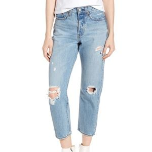 🆕 Levi's Wedgie Straight Ripped Jeans